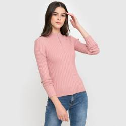 Sybilla - Sweater acanalado con cierre
