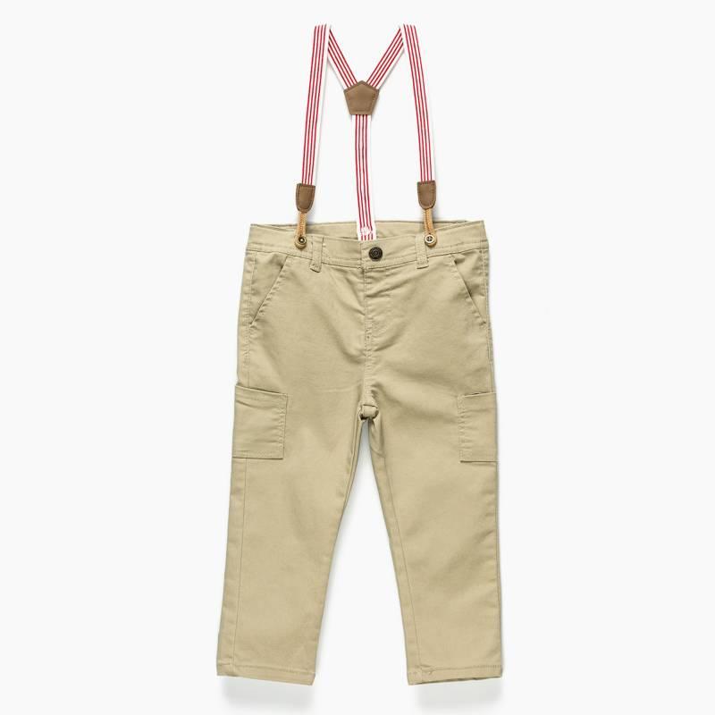 Yamp - Pantalon con tiradores 6 a 24 meses