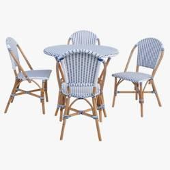 Basement Home - Juego de comedor de terraza Gio 4 puestos