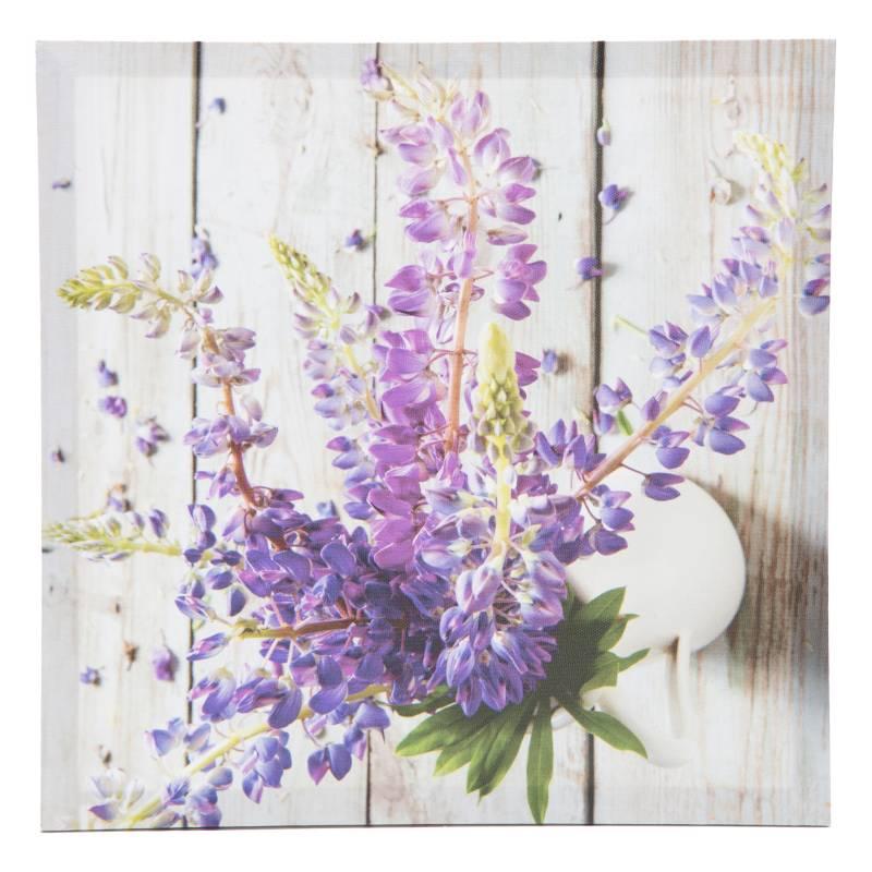 Mica - Cuadro Flor violeta 30x30cm