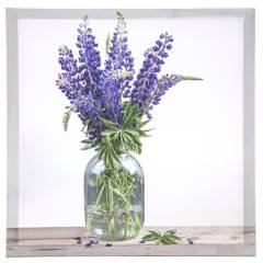 Mica - Cuadro flor 30x30cm