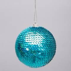 Mica - Esfera decorativa lentejuelas 8x8cm