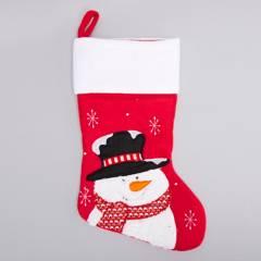 Mica - Bota navideña snowman 41x25cm