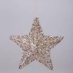 Mica - Estrella shiny 20x20cm