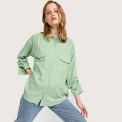 Basement - Blusa con bolsillos