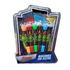 Cresko - avengers marvel blow pen marcadores con sellitos