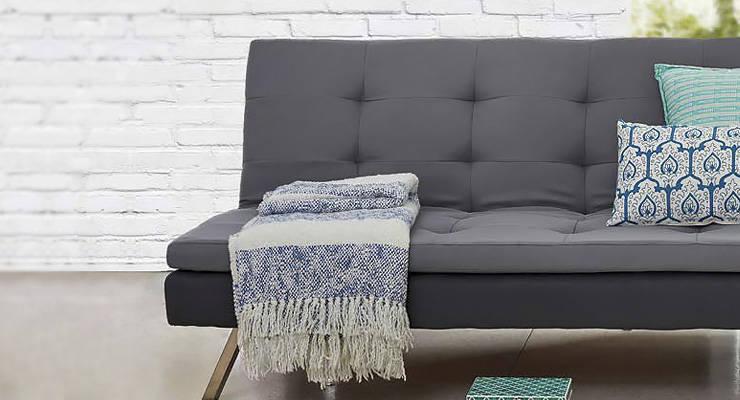Lujoso decoraci n de living peque os con futon for Sillones living para espacios reducidos