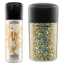Prep + Prime Fix 100 ml Gold Lite + Glitter Gold Hologram