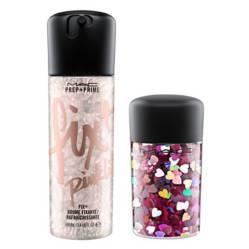 Prep + Prime Fix 100 ml Pink Lite + Glitter Pink Hearts