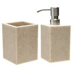 Basement Home - Dispenser de jabón  más vaso de baño