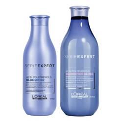 Loreal Professionnel - Shampoo Blondifier Iluminador 300ml + Acondicion Blondifier RUBIOS 200ml