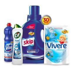 Skip - Combo jabón liquido + suavizante + lavandina + desinfectante