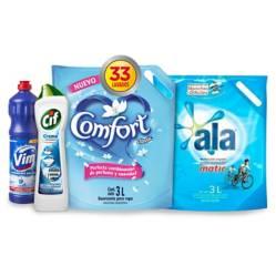 Ala - Combo jabón liquido + suavizante + lavandina + desinfectante