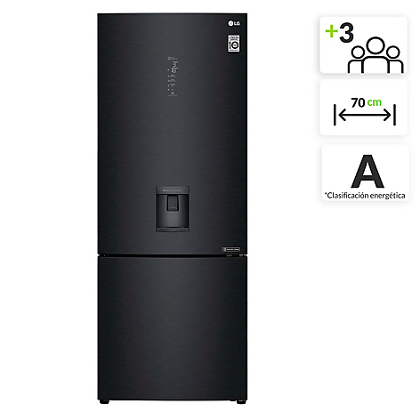 Nevera LG 500 lt No Frost Bottom freezer