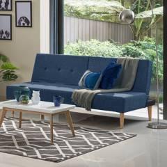 HIGH CLASS - Sofa cama hc trevor - azul indigo