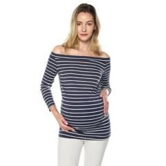 MOMS CLOSET - Blusa maternidad azul raya blanca mujer moms close