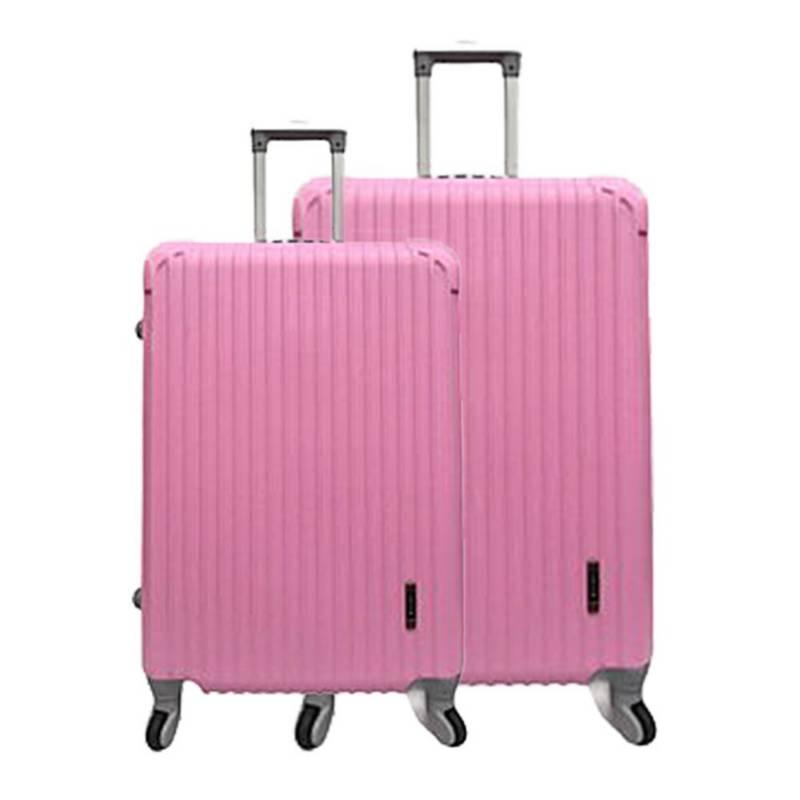 BIN COLOMBIA - Set x2 maleta de viaje ref.  W-437 rosado 19+25 pu