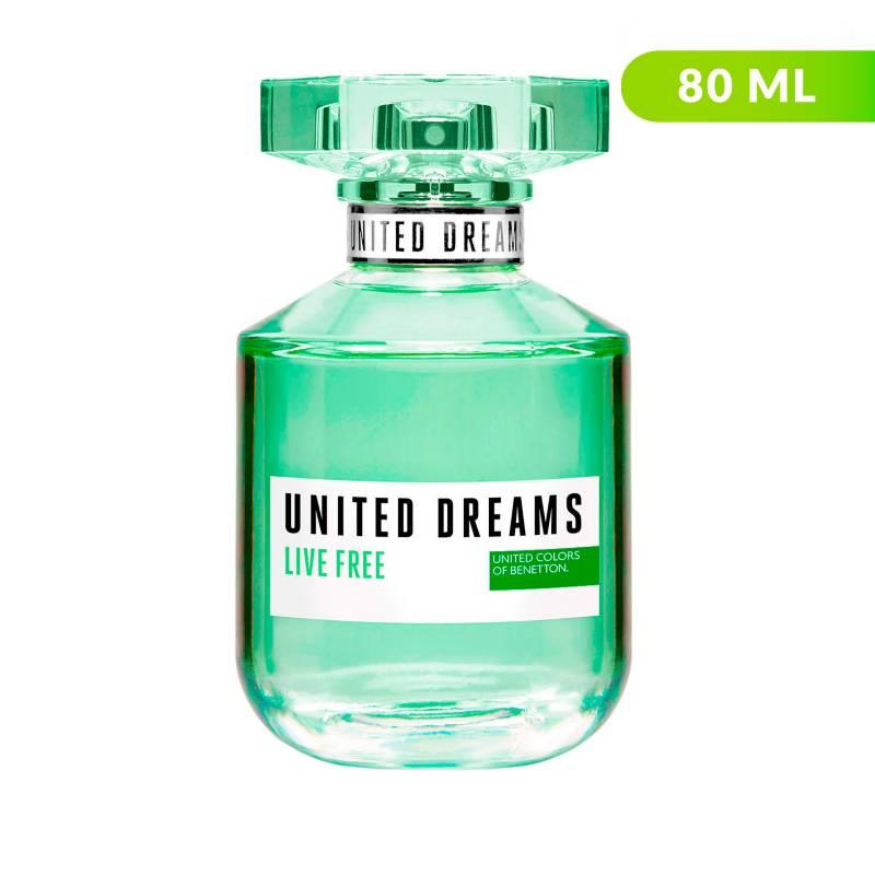 Benetton - Perfume Benetton United Dreams Live Free Mujer 80 ml EDT
