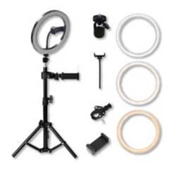 GENERICO - Aro de luz kit con soporte para celular (26cm) usb