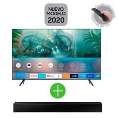 Samsung - Televisor Samsung 50 pulgadas LED 4K Ultra HD Smart TV + Barra de Sonido Samsung HW-T400