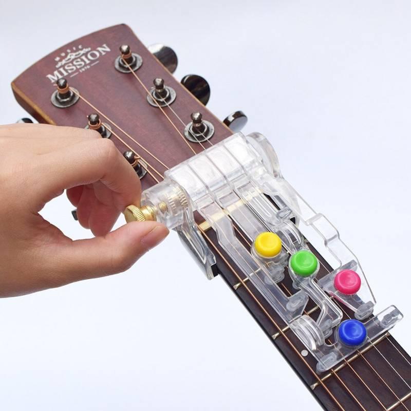 GENERICO - Accesorio aprendizaje guitarra acustica pisa cuerd