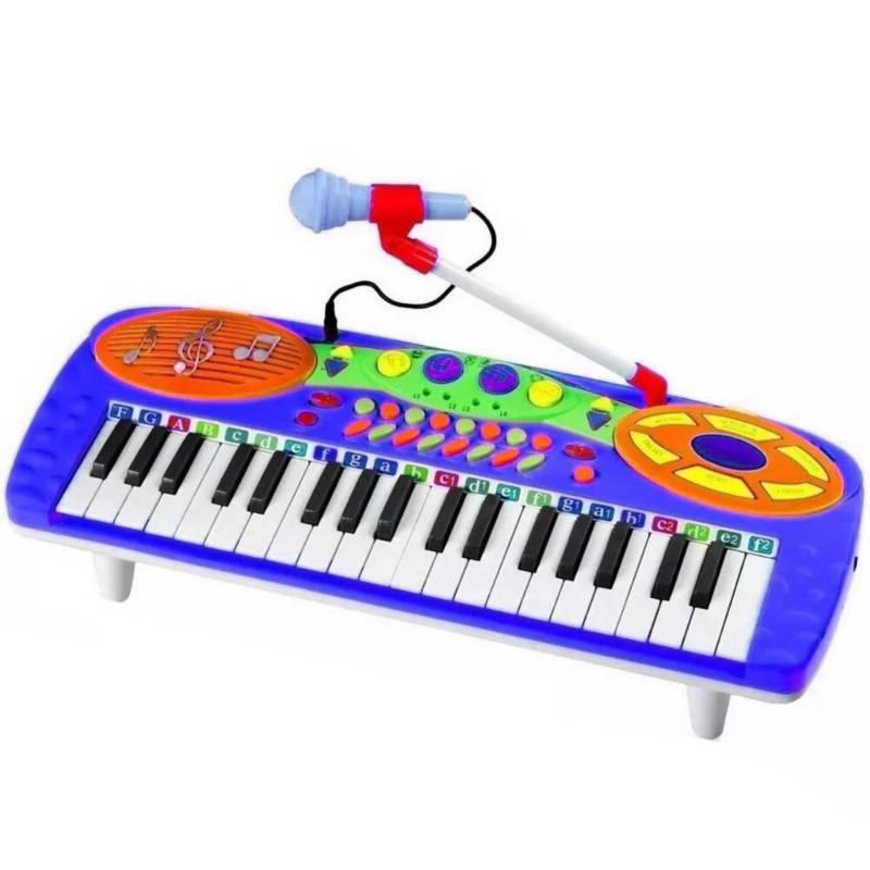 Danki - Teclado organeta piano 3701 acordeon musical azul