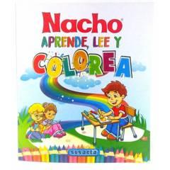 Genérico - nacho aprende, lee y colorea niños 192 pag - Susaeta