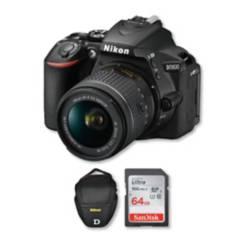 Nikon - Nikon d5600 con lente 18-55mm + memoria + bolso
