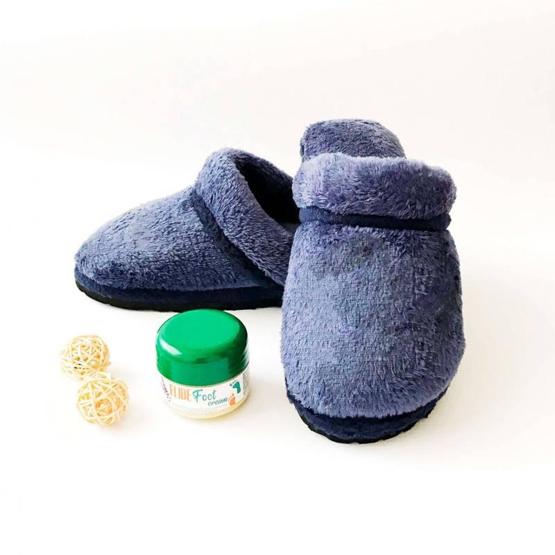 Madame Bio - Kit trabajo en casa  crema pies pantuflas t. 41