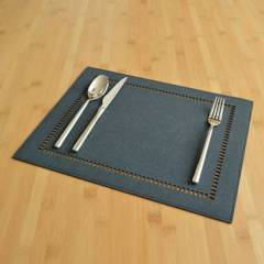 DECASA - Set x 4 individuales mompox rectangulares  azul