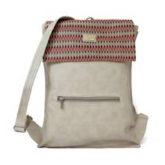Rose Bolsos - Mochila morral mujer beige rombos rose rs-tu06be