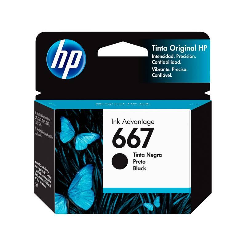 HP - Cartucho HP 667 Black Ink Cartridge