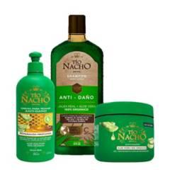 TIO NACHO - Kit Tio Nacho Aloe Shampoo + Tratamiento + Crema
