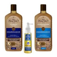 TIO NACHO - Kit Tio Nacho Engrosador Shampoo + Acond + Trata