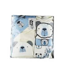 MUNDO BEBE - Primera muda bebe azul 8 piezas