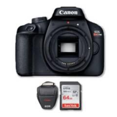 Canon - Cámara canon t100 sólo cuerpo  memoria 64gb  bolso