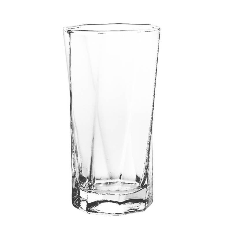 Cristar - Vaso Alto Cristar Vidrio 6 Piezas 11.9 Oz