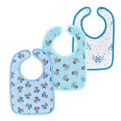 MUNDO BEBE - Baberos bebé set x 3 toalla algodón