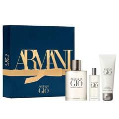 Armani - Set de Perfume Armani Giorgio Acqua EDT 100 ml + 15 ml + Shower Gel 75 ml Hombre