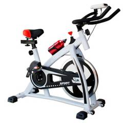 NIBIO - Bicicleta Spinning Ajustable Pantalla Cardio 6Kg