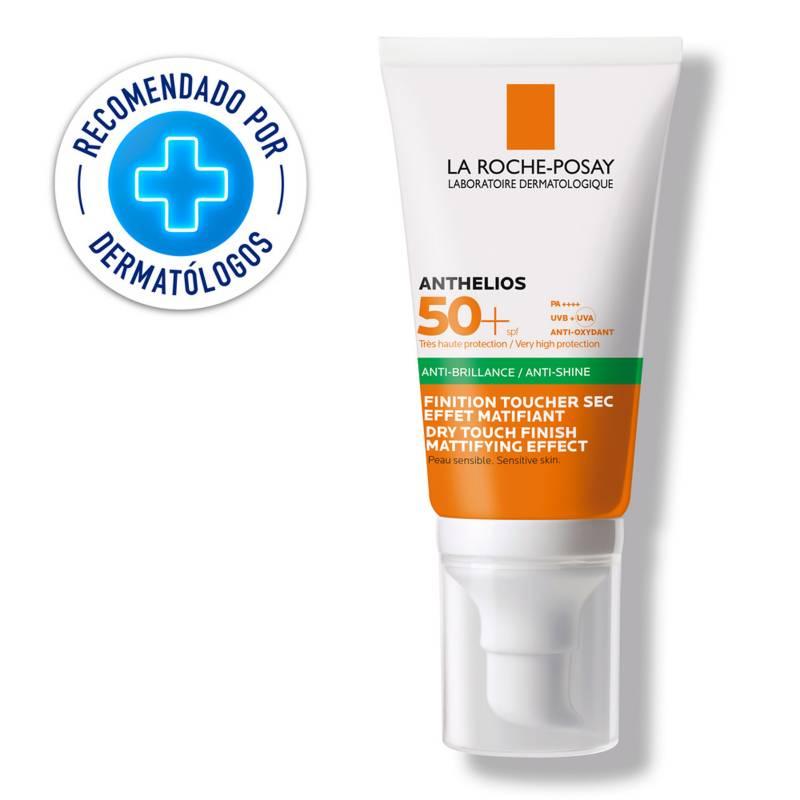 La Roche Posay - Protector Solar Anti Brillo La Roche Posay Anthelios Gel toque seco 50 ml FPS 50+ 50 ml