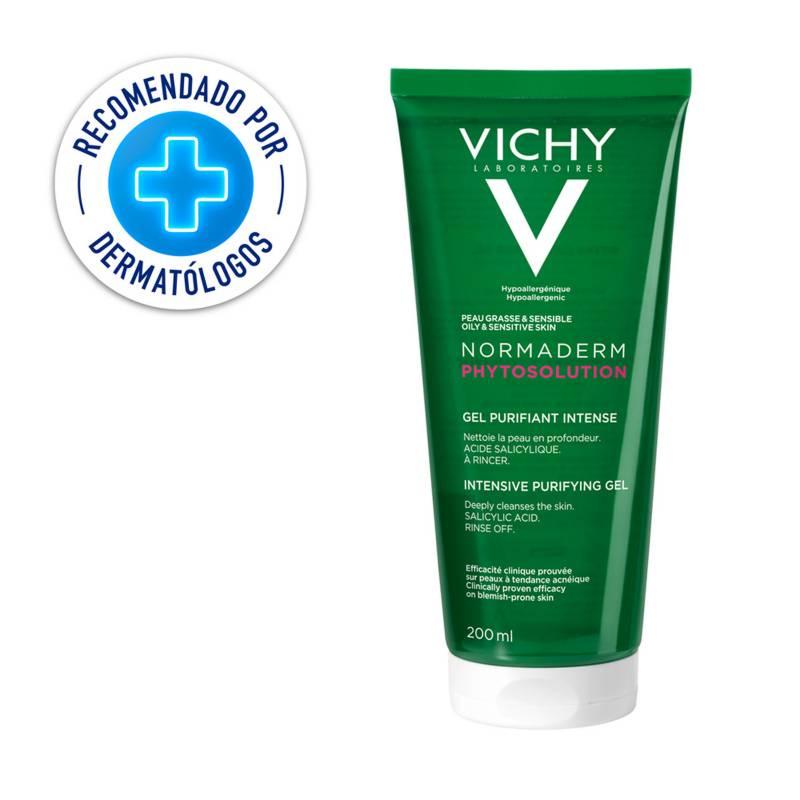 Vichy - Limpiador Piel Grasa con Imperfecciones Normaderm Phytosolution Gel Vichy 200 ml