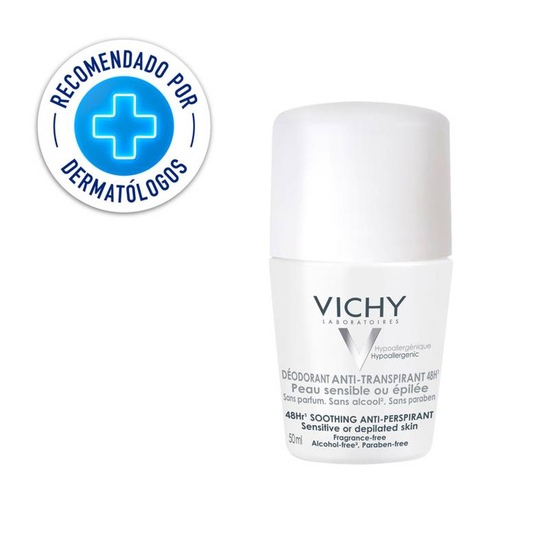 Vichy - Desodorante Anti Transpirante Vichy Deo Roll-On Piel Sensible 48 Hr 50 ml