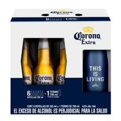 Corona - Corona 355 ml X 6 + 1 Termo Corona