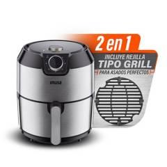 Imusa - Freidora de aire Imusa + Grill 2 en 1 4.2 lt