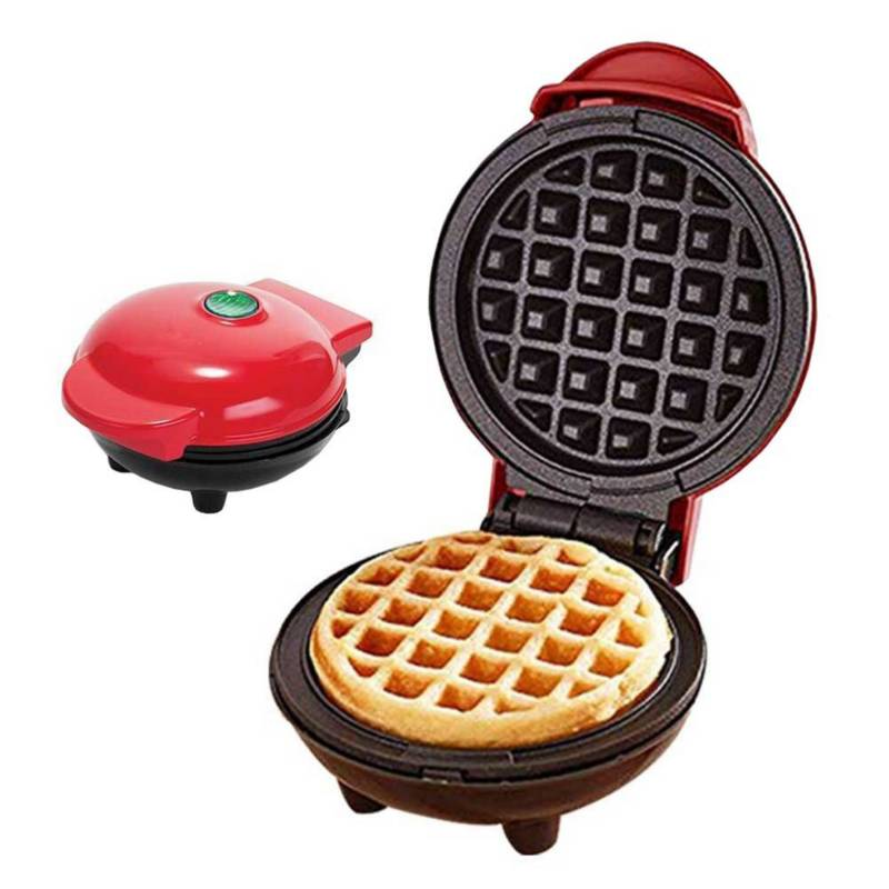 Danki - Mini wafflera personal pequeña eléctrica 4 pulgada