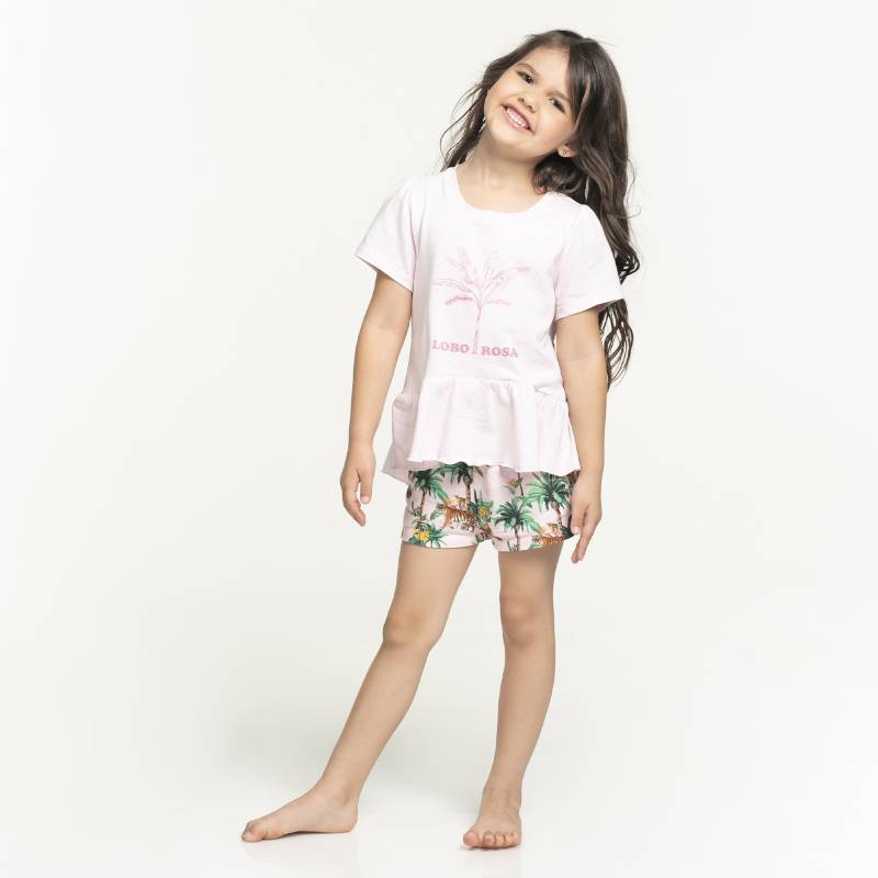 Lobo Rosa para Falabella - Pijama Niña Algodón Lobo Rosa para Falabella