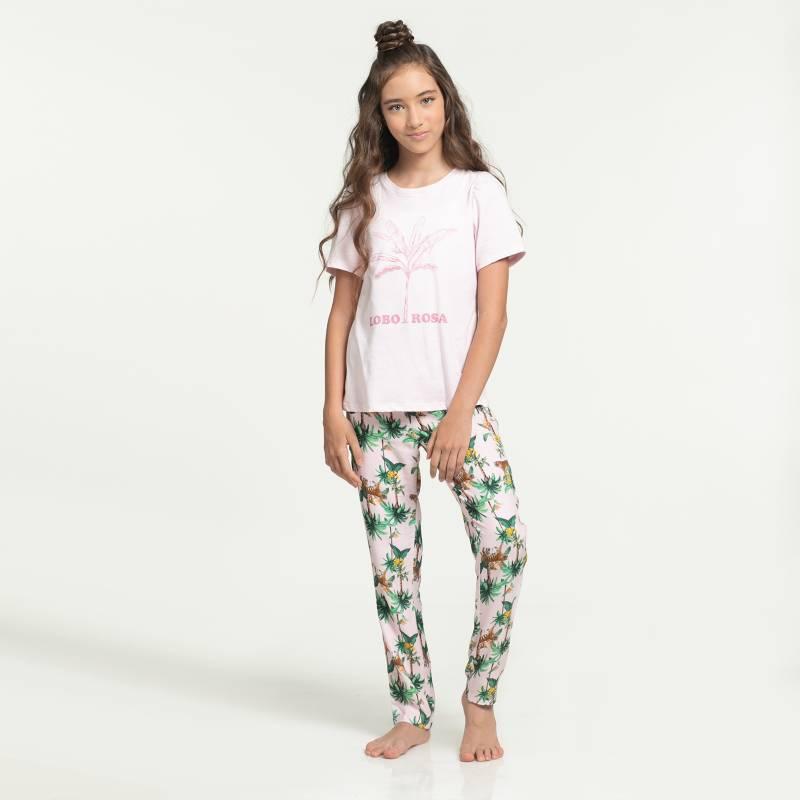 Lobo Rosa para Falabella - Pijama Niña Juvenil Algodón Lobo Rosa para Falabella