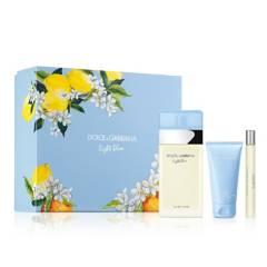 Dolce & Gabbana - Set de Perfumería Dolce&Gabbana Set Light Blue 100 ml EDT SP For Women + BC 50 ml + TS 10 ml Mujer
