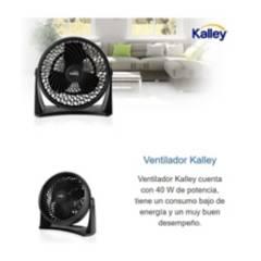 Kalley - Ventilador de mesa o pared kalley 8¿ k-vm8n02 negr